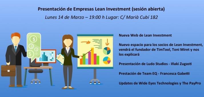 Evento Lean Investment Club